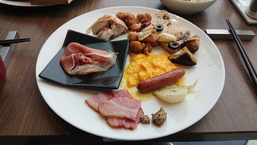 センチュリーマリーナの朝食盛り合わせ