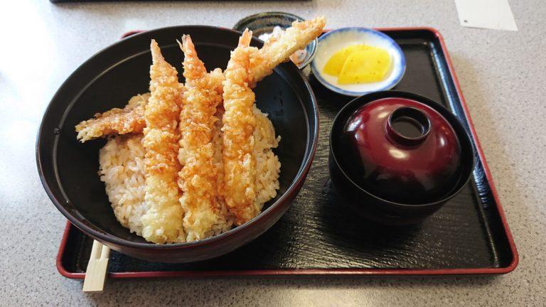 三春のえび穴子天丼セット