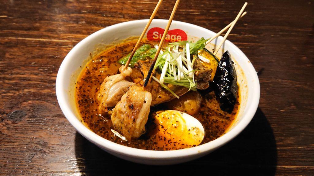Suage+のパリパリ知床鶏と野菜カレー
