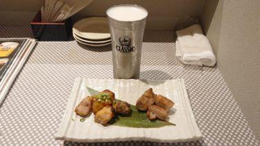 【ニジヒコ】ドリンク3杯とカツオの藁焼き&ひこま豚で1000円!せんべろセットがお得な白石駅近くで一人飲み