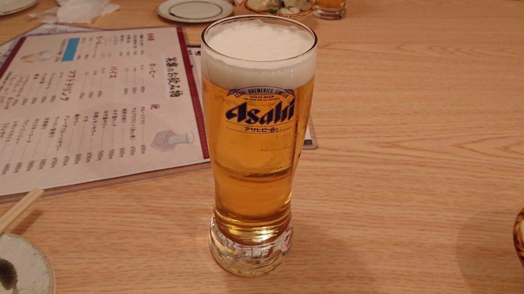 笑楽のビール
