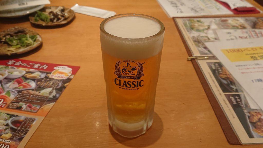 饂飩の四國のビール