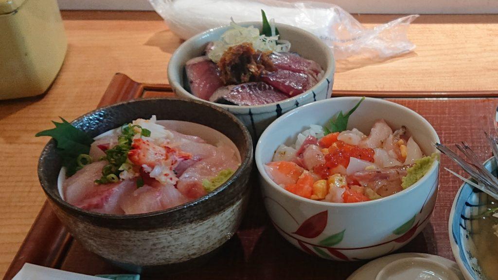 四季花まるの日替わり丼3種類