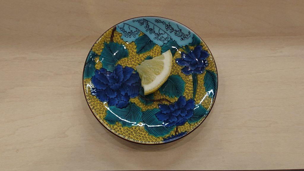 鶏白湯そば燠のレモン