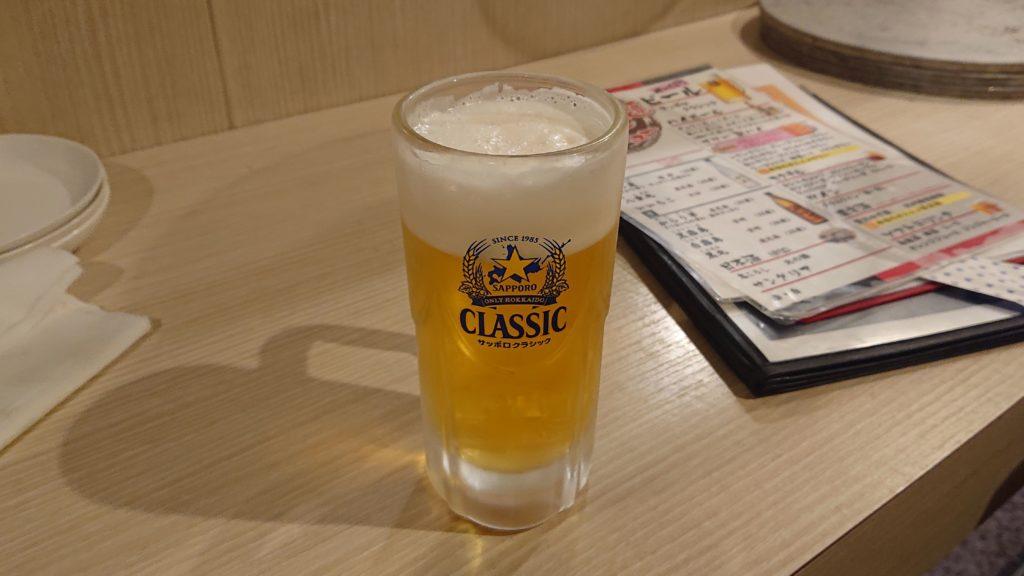 個室焼肉つばめ本店のビール